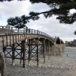 関門橋と錦帯橋