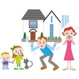 離婚する家族