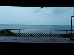 海が一望できる蕎麦屋さん